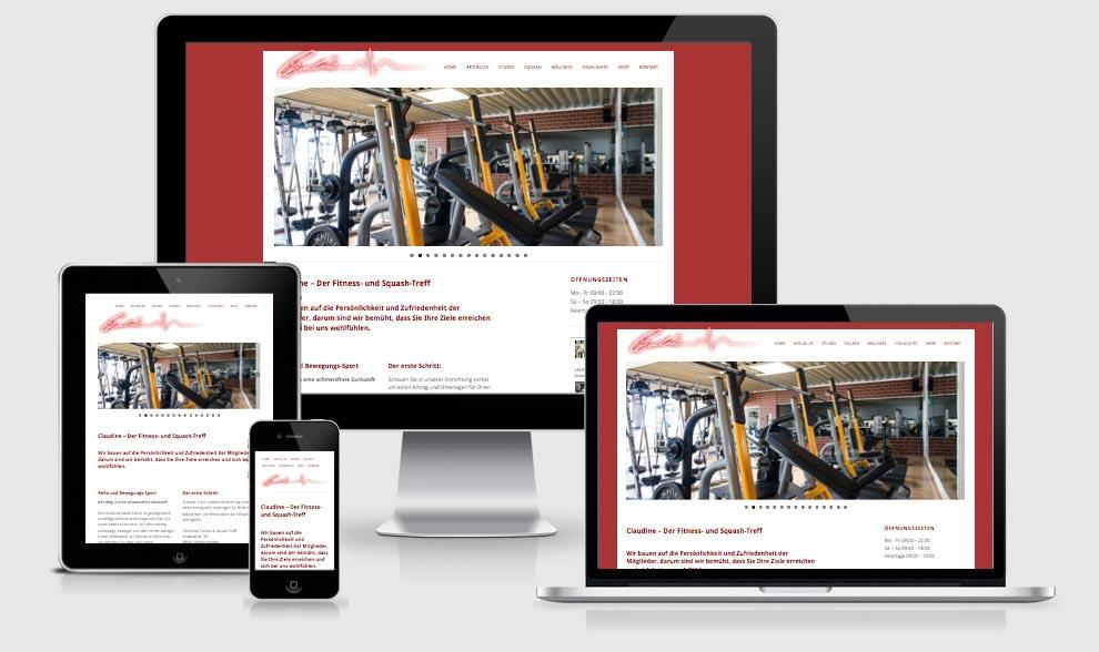 Responsive Webdesign für Claudines Fitness- und Squashtreff